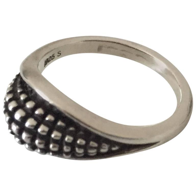 Modern Georg Jensen Sterling Silver Ring