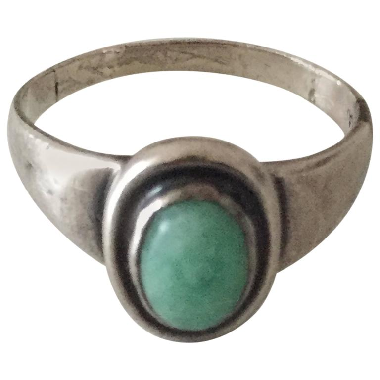how to make a silver ring with a stone