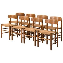 Børge Mogensen Shaker Dining Chairs by FDB Møbler in Denmark
