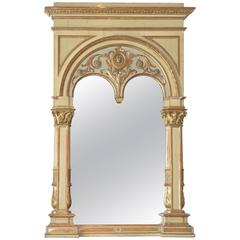 Italian Parcel Gilt and Painted Mirror