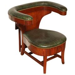 19th Century Mahogany Articulated Library Chair