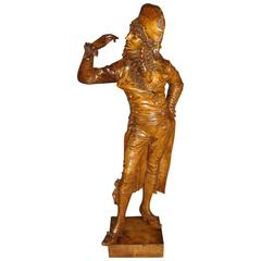 Fine 19th Century Italian Carved Figure of Dandy Gentleman
