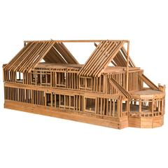 """Under Construction"", Model of Timber Framed House"