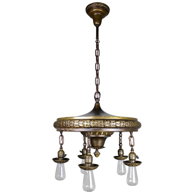 Items Similar To Lighting Rustic Chandelier Vintage 1920 S