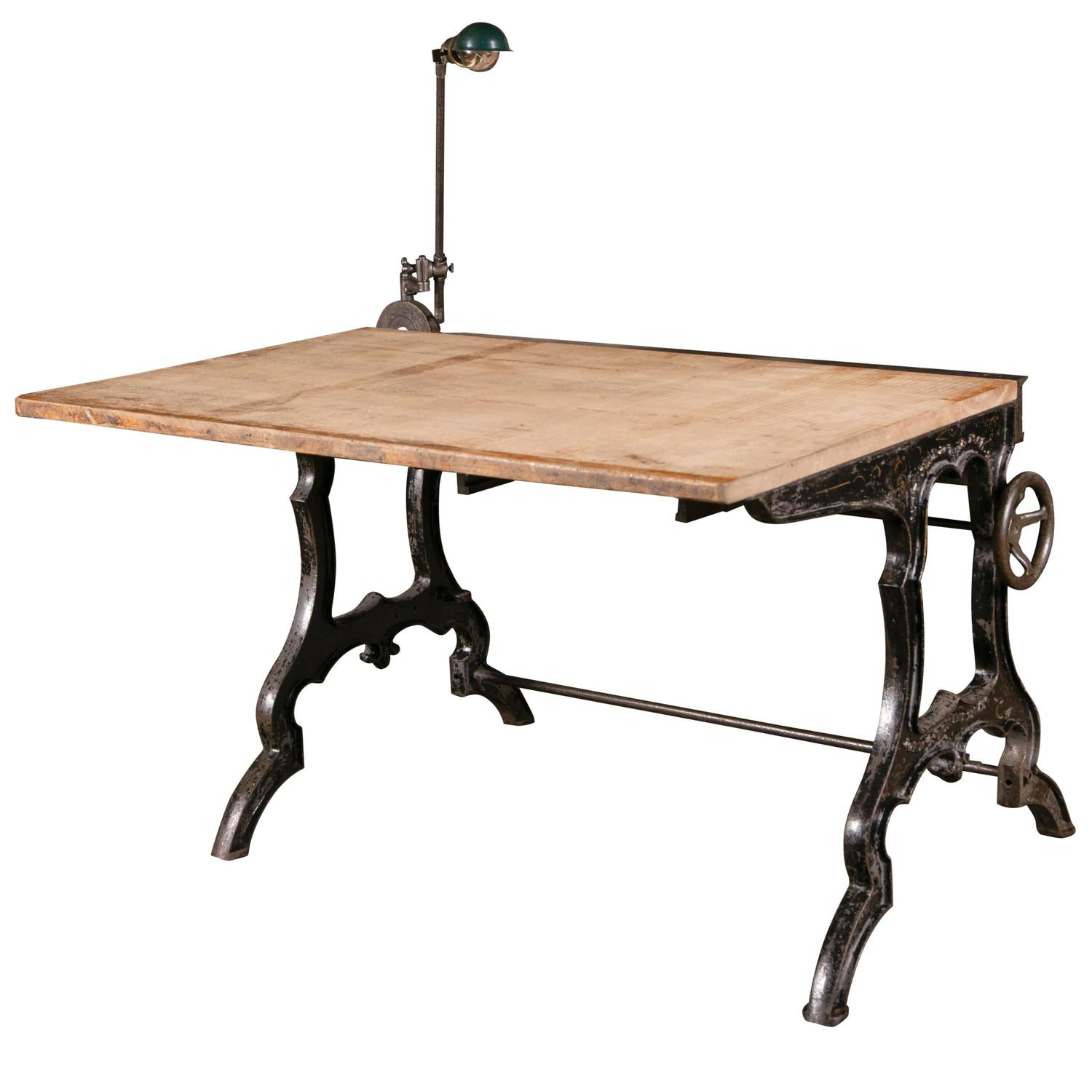 vintage industrial desk at 1stdibs. Black Bedroom Furniture Sets. Home Design Ideas