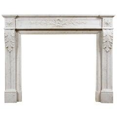 Louis XVI Style Carrara Marble Mantel