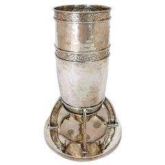 Arts & Crafts Silver Vase