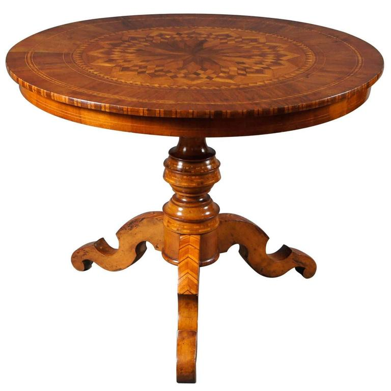 Single Centre Table with Marquetry