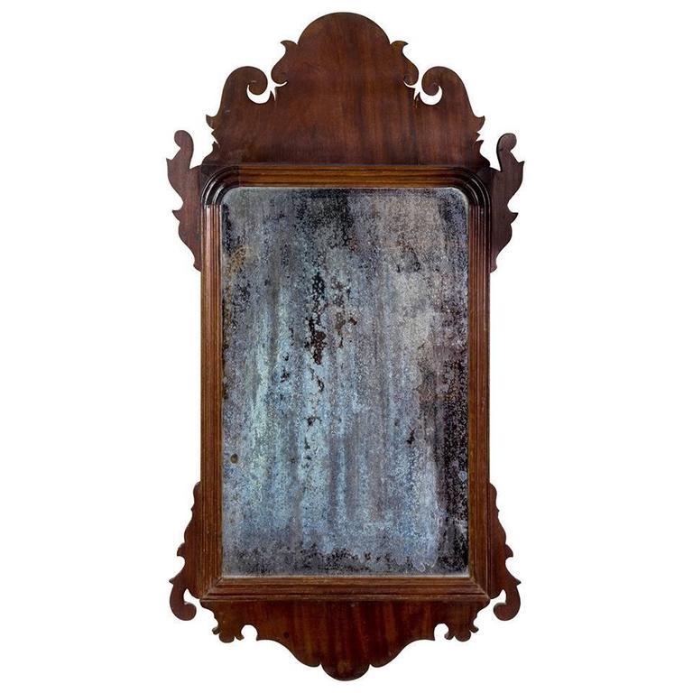 Superbe Mahogany Queen Anne Mirror, Circa 1760 For Sale