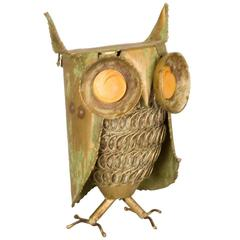 Curtis Jere Inspired Owl Sculpture