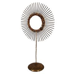Tabletop Sunburst Mirror by C. Jere
