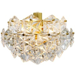 Kinkeldey Crystal Glass Chandelier Gilded Metal, 1960s