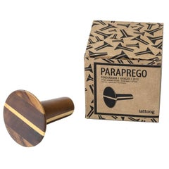 Paraprego Brazilian Contemporary Solid Turned Wood Coat Hanger by Lattoog