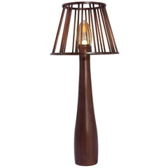 Moscou Brazilian Contemporary Wood Big Floor Lamp by Lattoog