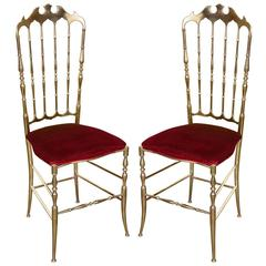 Brass Chairs by Chiavari Italy