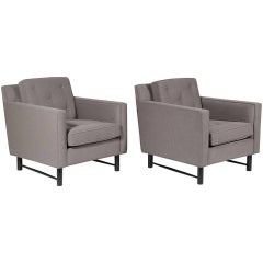 Pair of Edward Wormley Lounge Chairs by Dunbar