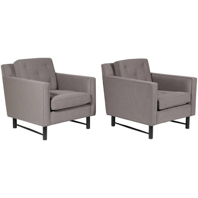 Pair of Edward Wormley Lounge Chairs by Dunbar 1