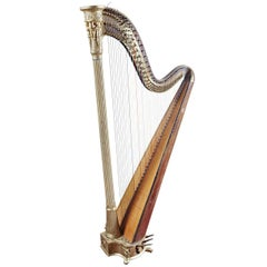 Early 19th Century French Maple and Gilt Double Action Harp by S. Erard, 1811