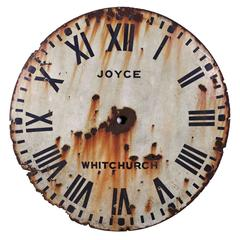 English Tole Clock Face