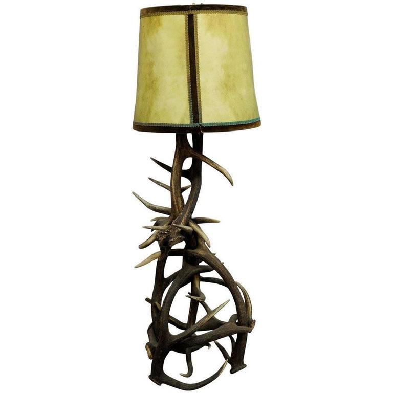 floor elk moose mad and chandeliers shop lighting antler lamps lamp