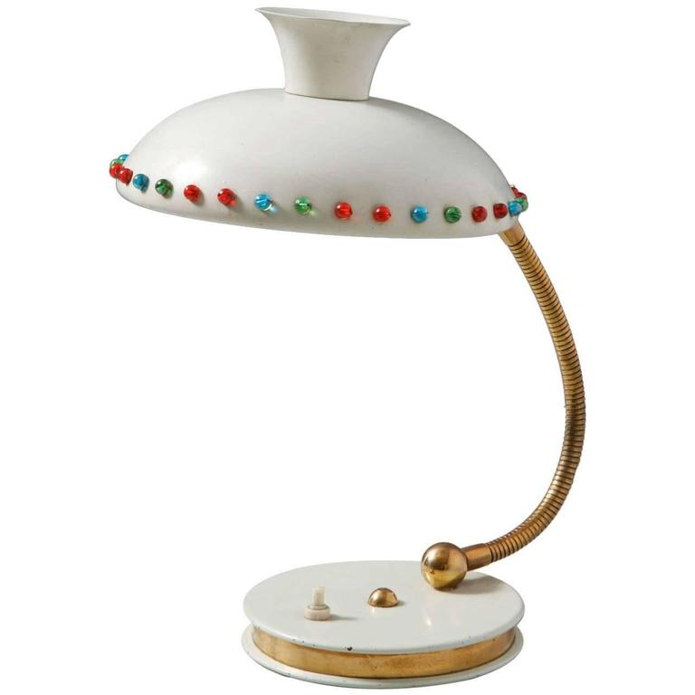 Huge Tri Colored Glass Stilnovo Table Lamp