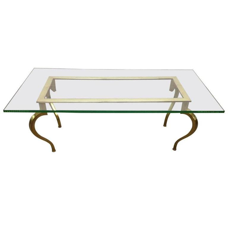 French Bronze Coffee Table by Maison Ramsay