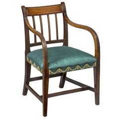 Mahogany English Regency Armchair, circa 1810