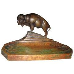 Bison Bronze Desk Tray
