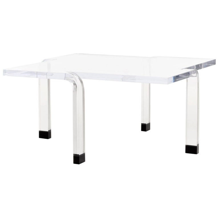 Rare Neal Small Cocktail Table in Plexiglass