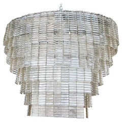 Large Oval Smoked Murano Chandelier