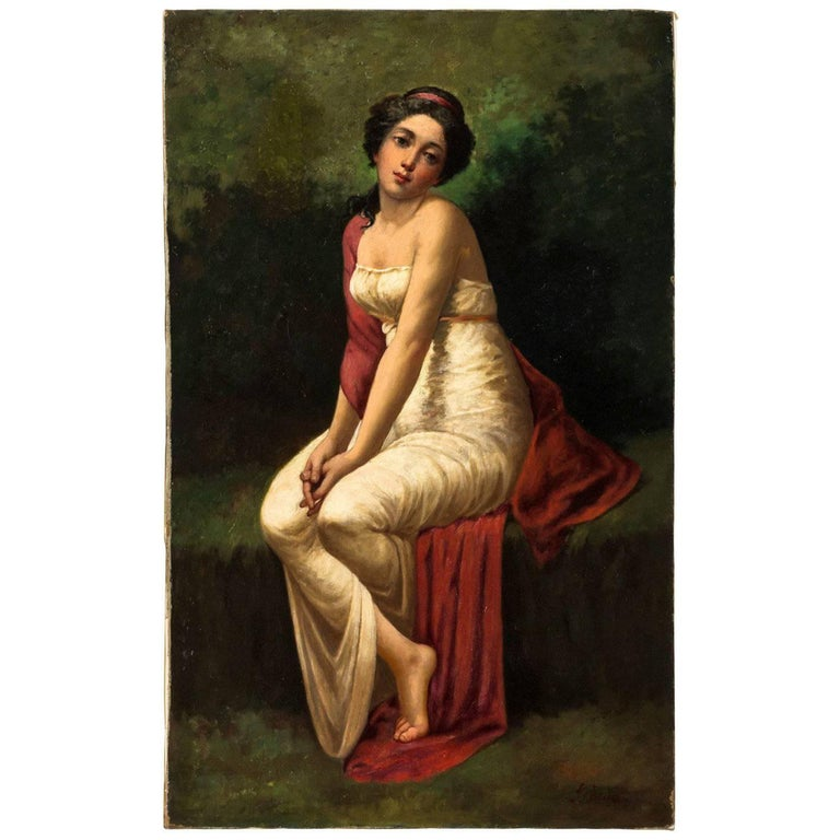 Oil Painting of a Woman