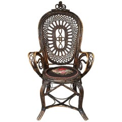 Late 19th Century Danish Wicker Chair