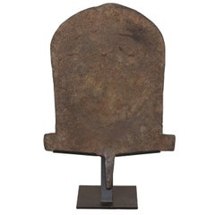 Large Forged Iron Currency from Nigeria, West Africa on Custom Stand
