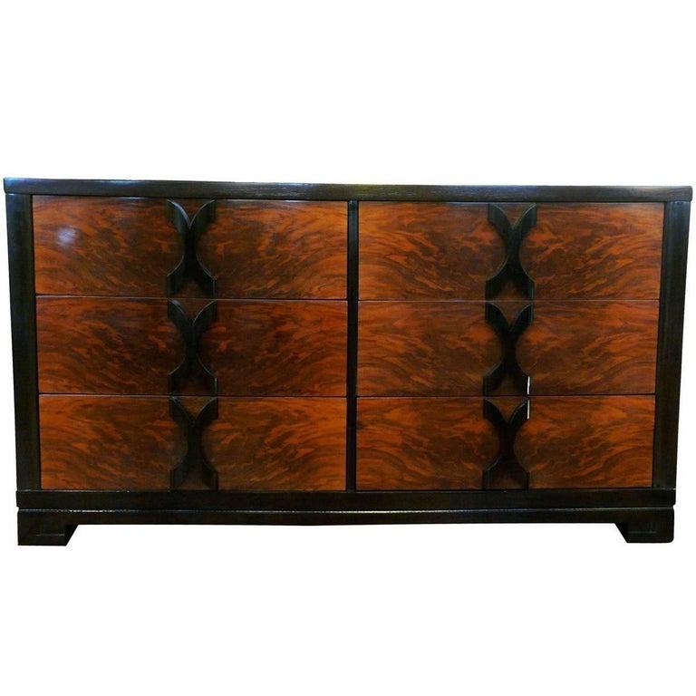 Modernage Walnut Six-Drawer Dresser in the Manner of James Mont