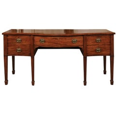 George III Mahogany Serpentine Sideboard with Kingswood Cross-Banding