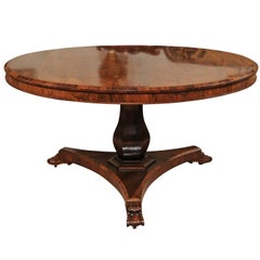 English William IV Rosewood Centre Table