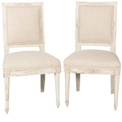 Pair of 18th Century Directoire Side Chairs