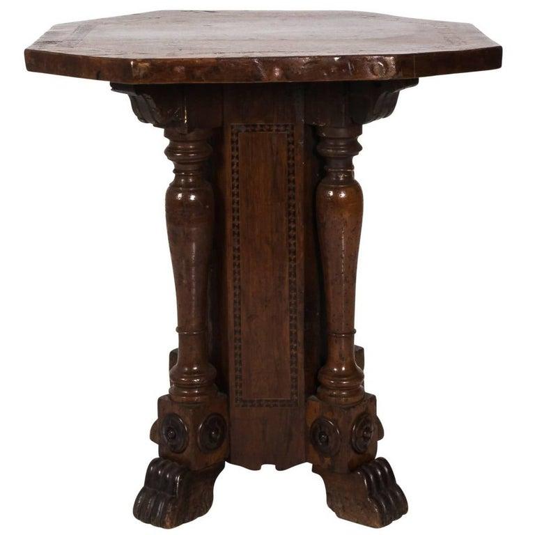 Late 18th Century Italian Pedestal Table