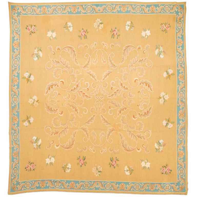 20th Century Arraiolo Portugal Wool Rug, Arraiolo, French Design, circa 1900