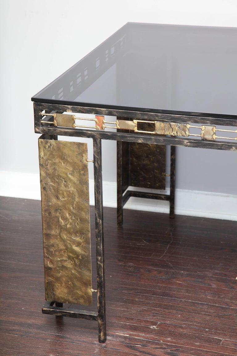 Vintage Brutalist Table Base by Silas Seandel For Sale 6