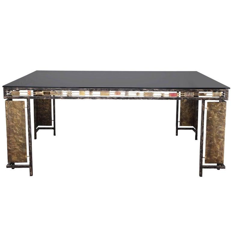 Vintage Brutalist Table Base by Silas Seandel For Sale
