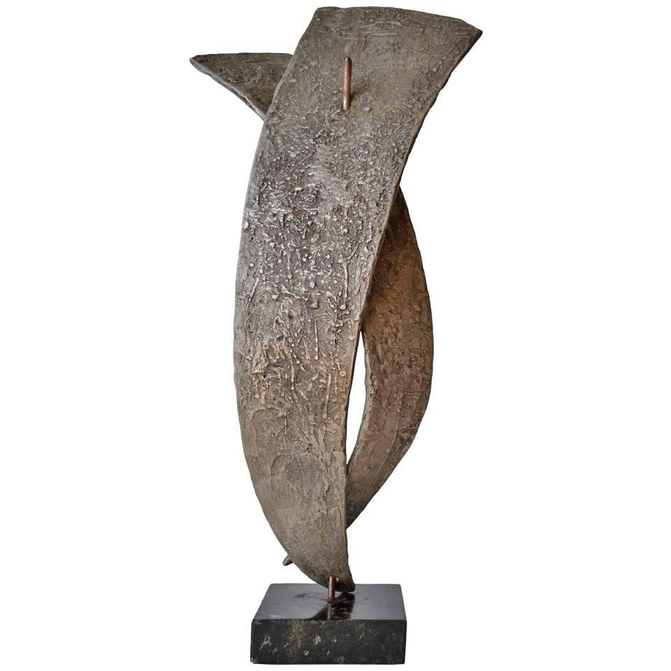 Mid Century Modern Bronze Abstract Sculpture by Seff Weidl, circa 1960s