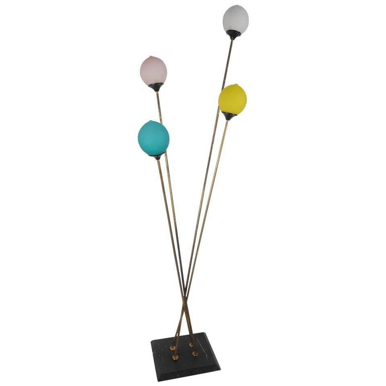 Playful Vintage Italian Modern Floor Lamp For Sale