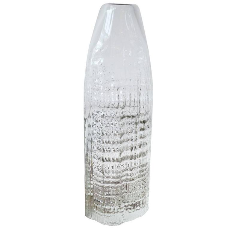 Tapio Wirkkala for Rosenthal Massive Art Glass Sculptural Vase, circa 1960s