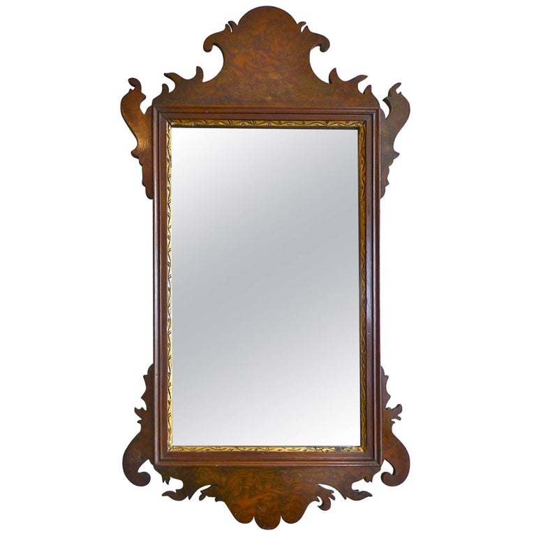American 19th Century Federal Chippendale Mirror with Original Glass