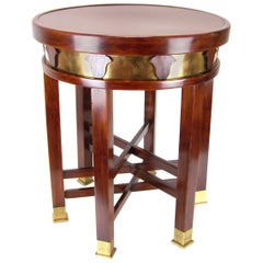 Unique Viennese Secession Tabouret with Six Legs, circa 1910