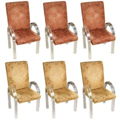 Lucite Dining Chairs by Charles Hollis Jones