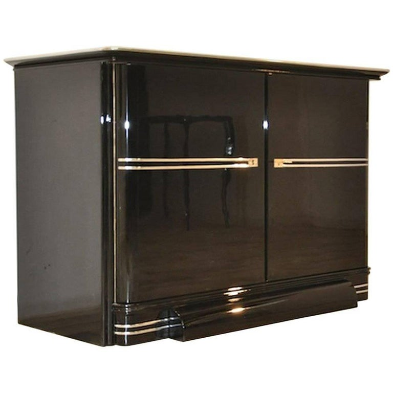 Black Art Deco Design Commode