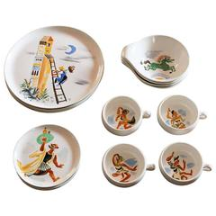 16 William Gropper Oil Painted Dishes