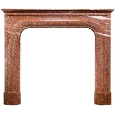 Louis XIV Style Bolection Marble Rouge Mantel